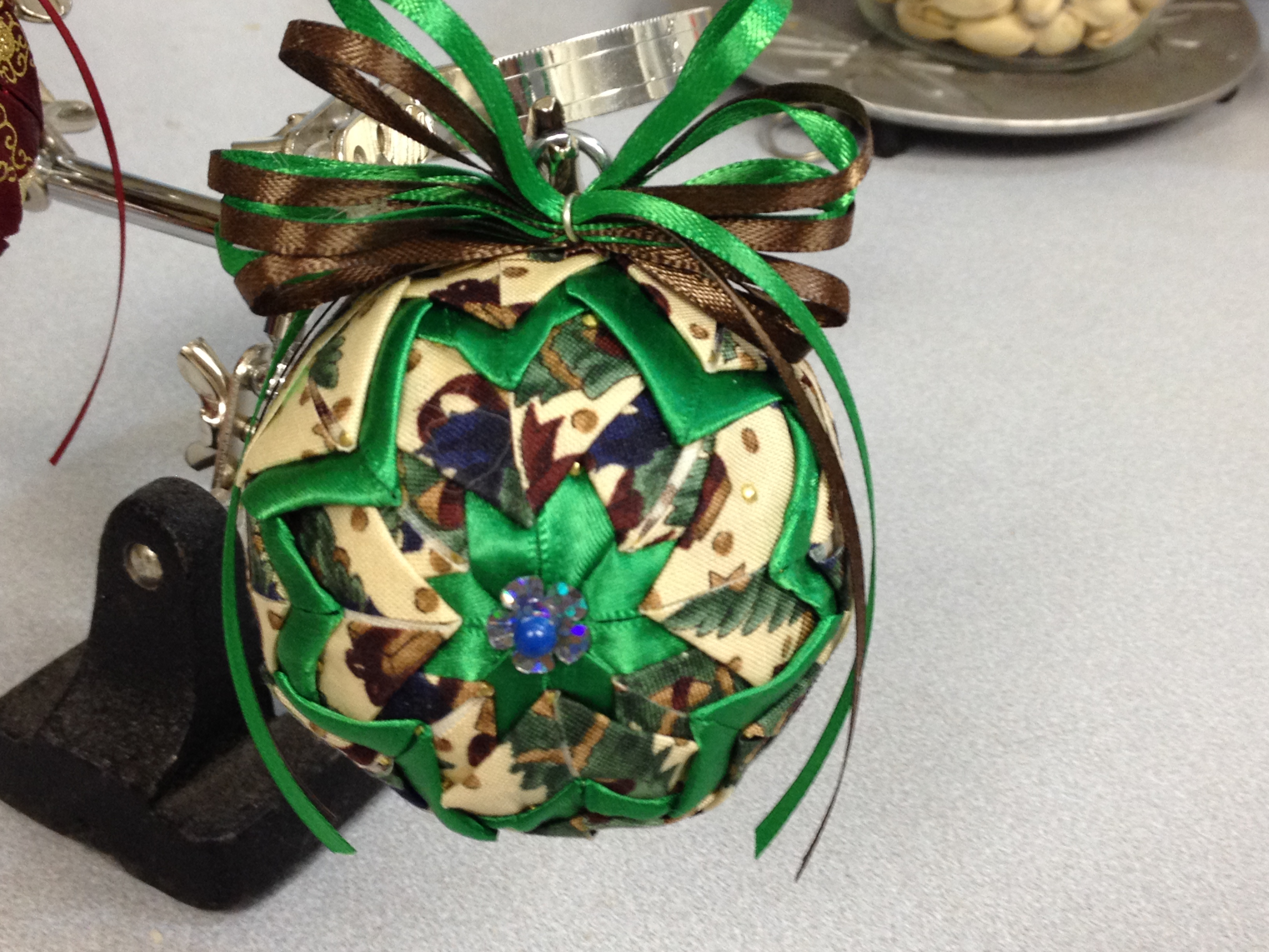 "No Sew ""Quilted"" Ornament 